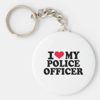 I love my Police Officer Keychain