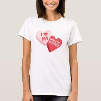 I Love My Polish Boyfriend Candy Hearts T-Shirt