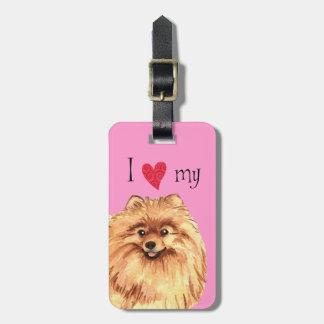 I Love my Pomeranian Luggage Tag