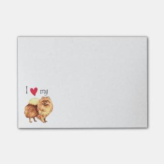 I Love my Pomeranian Post-it Notes