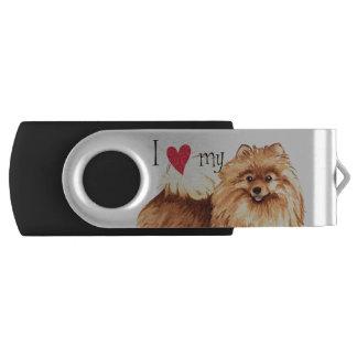 I Love my Pomeranian USB Flash Drive