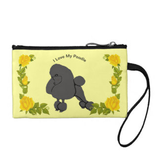 I Love My Poodle and Yellow Roses Coin Purse
