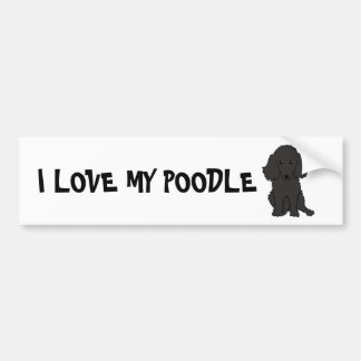 I LOVE MY POODLE BUMPER STICKER