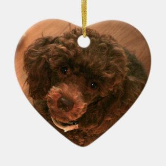 I love my Poodle Ceramic Ornament