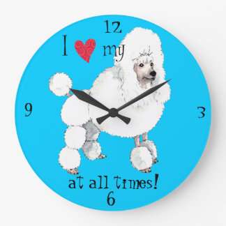 I Love my Poodle Clocks