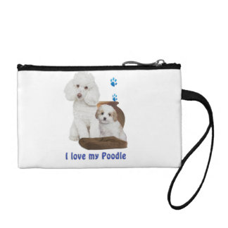 I love my poodle coin purse