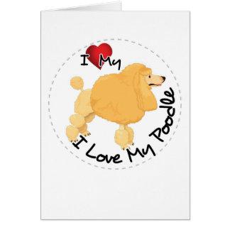 I Love My Poodle Dog Card