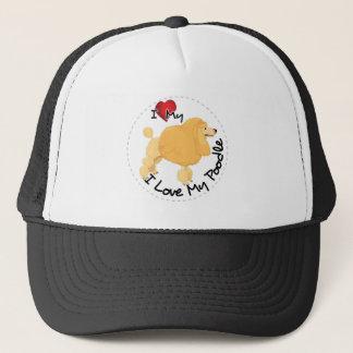 I Love My Poodle Dog Trucker Hat