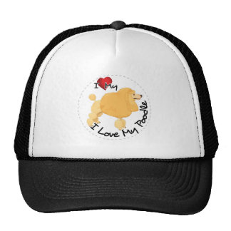 I Love My Poodle Dog Trucker Hat