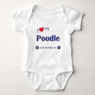 I Love My Poodle (Female Dog) Tshirt