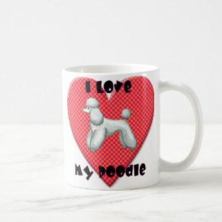 I Love My Poodle Heart Coffee Cup Mug