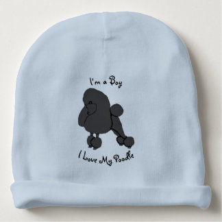 "I Love My Poodle ""I'm a Boy"" Baby Beanie"