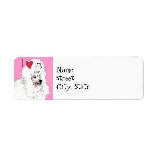 I Love my Poodle Return Address Label