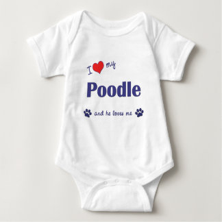 I Love My Poodle (Male Dog) T-shirt