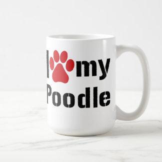 I Love My Poodle Basic White Mug