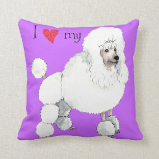 I Love my Poodle Pillows