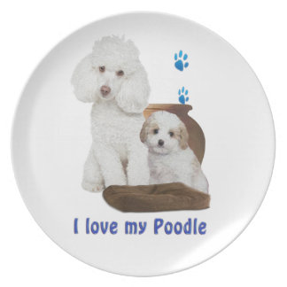 I love my poodle plate
