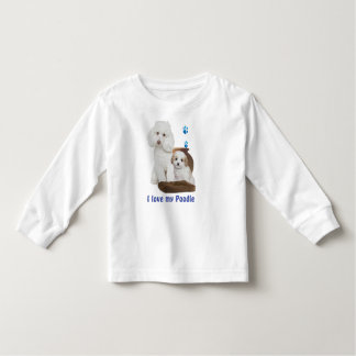 I love my poodle toddler t-shirt