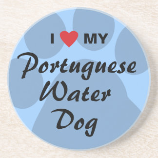 I Love My Portuguese Water Dog Coasters