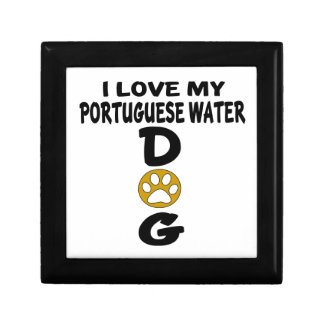 I Love My Portuguese Water Dog Dog Designs Trinket Box
