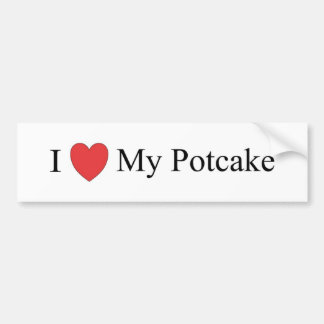 I Love My Potcake Bumper Sticker
