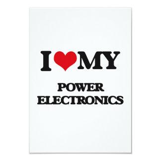 "I Love My POWER ELECTRONICS 3.5"" X 5"" Invitation Card"