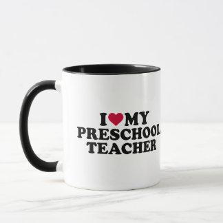 I love my preschool teacher mug