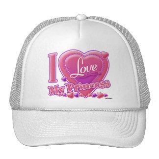 I Love My Princess pink/purple - heart Trucker Hat