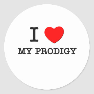 I Love My Prodigy Round Sticker