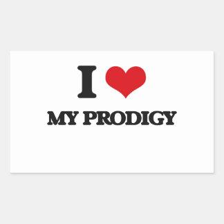 I Love My Prodigy Rectangular Sticker