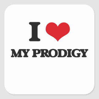 I Love My Prodigy Square Sticker