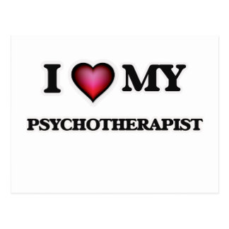 I love my Psychotherapist Postcard