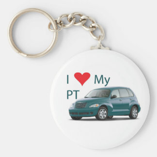 I Love My PT Keychain (Aqua/Teal)