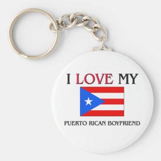 I Love My Puerto Rican Boyfriend Basic Round Button Keychain