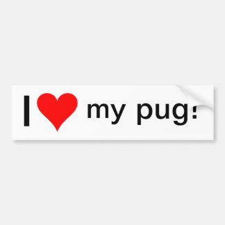 I Love My Pug! Bumper Sticker