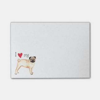 I Love my Pug Post-it Notes