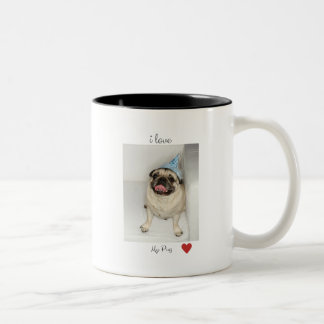 i love my Pug Two-Tone Coffee Mug