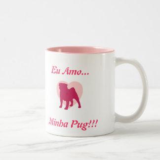 I love My Pug! Two-Tone Coffee Mug