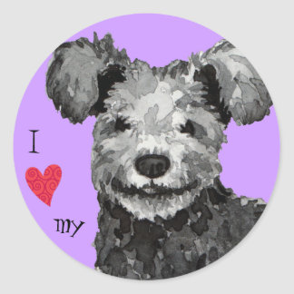 I Love my Pumi Classic Round Sticker