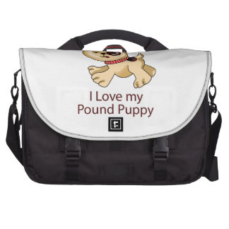 I Love My Puppy Laptop Commuter Bag
