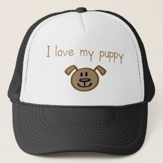 I love my puppy trucker hat