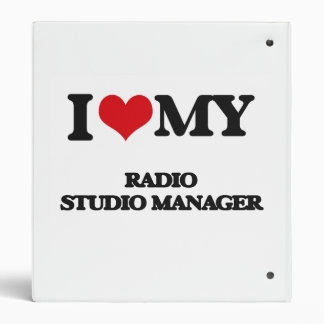 I love my Radio Studio Manager Vinyl Binders