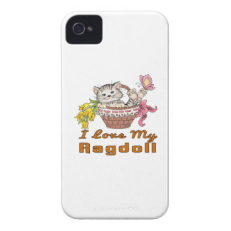 I Love My Ragdoll iPhone 4 Cases