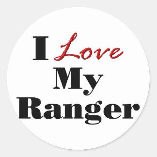 I Love My Ranger Classic Round Sticker