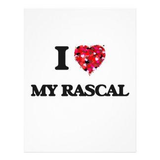 I Love My Rascal Flyer Design