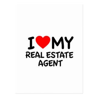 I love my Real Estate Agent Postcard