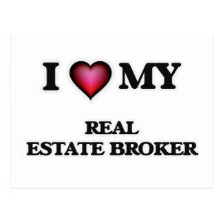 I love my Real Estate Broker Postcard