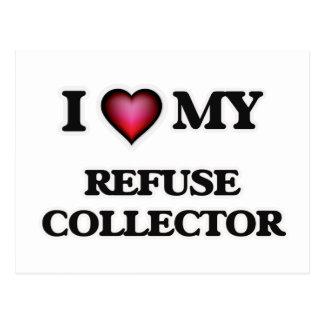 I love my Refuse Collector Postcard