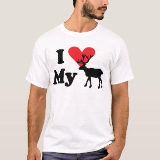 I Love My Reindeer Tee Shirt