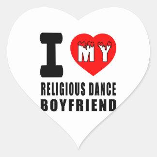 I Love My Religious Boyfriend Heart Stickers